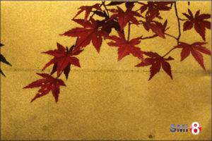 """Фото гравюры Хироаки Мияямы """"Момидзи-но Га"""" к главе 7 """"Праздник алых листьев"""" """"Повести о Гэндзи"""" на выставке в Новосибирске"""