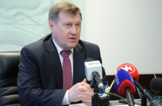 Фото. Мэр Новосибирска Анатолий Локоть