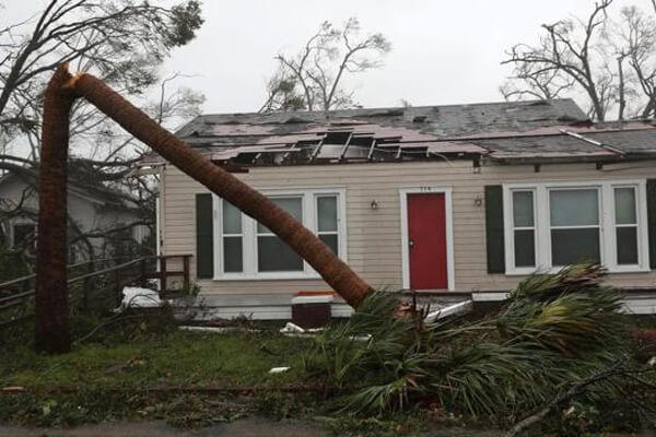 "Фото. Штат Флорида, октябрь 2018 года. Последствия урагана ""Майкл"""