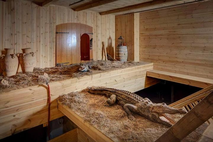 Фото. Внутри ковчега уже готовы к отплытию библейские животные