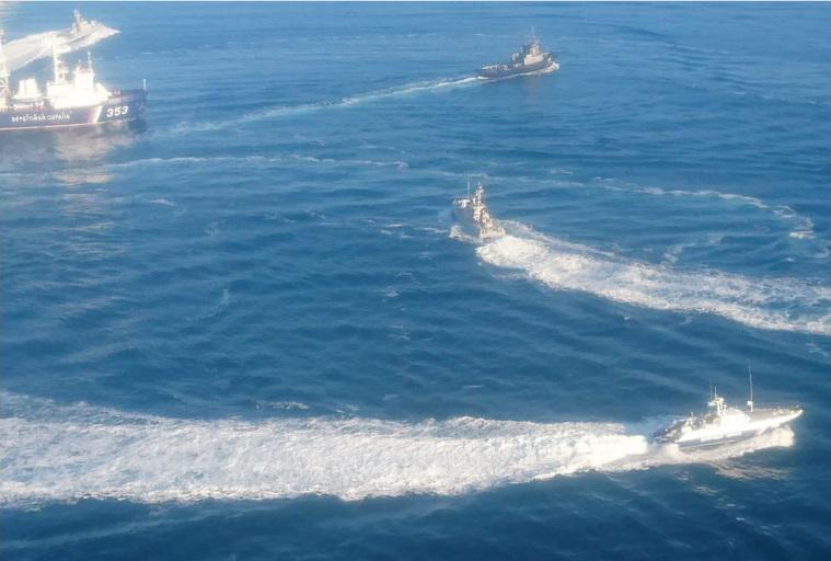 Фото. Действия украинских кораблей сейчас непредсказуемы