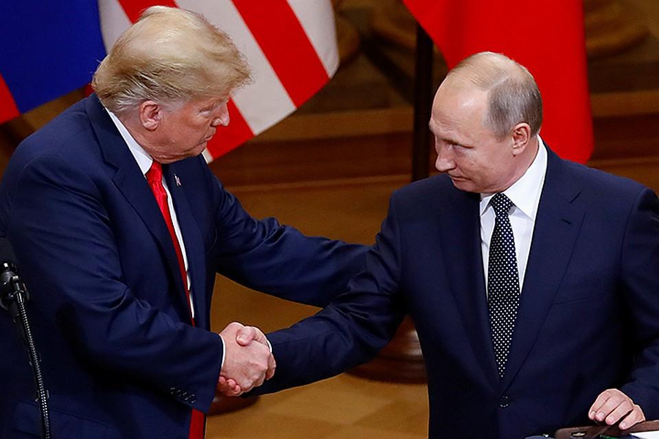 """Фото. Путин и Трамп: """"Нашей вражде пришёл конец 4 года назад"""""""