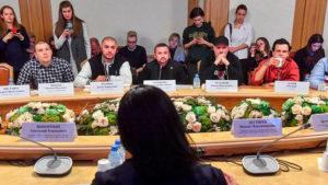 Фото. Рэперов пригласили в Госдуму, чтобы обсудить свободу слова в стране