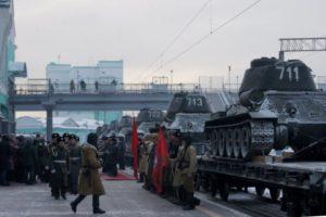 Фото. Легендарные Т-34 остановились в Новосибирске ненадолго