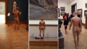 Фото. Прогулявшийся по Третьяковке мужчина оказался художником