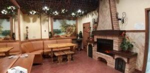 """Фото. Комната отдыха с камином в сауне гостиницы """"Северная"""". Новосибирск"""