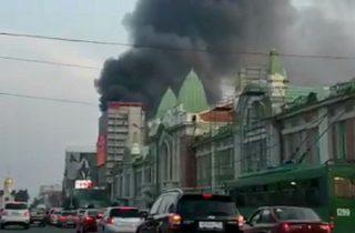 Фото. Пожар в центре г. Новосибирска. ресторан «Puppen Haus»