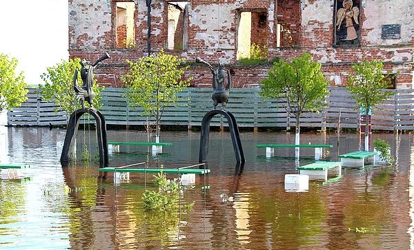 Фото. Наводнение в Палатах Строгановых