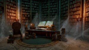 Фото. Фэнтези. Библиотека древних книг.
