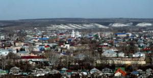 Фото. город Калач Воронежской области, меловая гора.