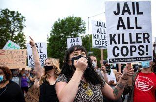 Фото. Забастовка в США