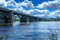 Фото. Октябрьский мост в Новосибирске