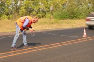 Фото. Новое дорожное покрытие на Ордынской трассе