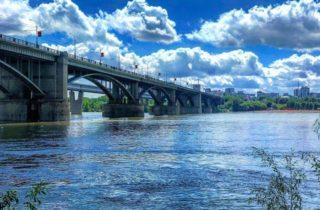 Фото. Коммунальный мост в Новосибирске