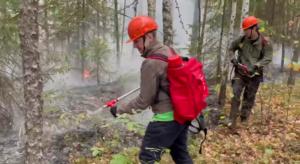Тушение пожаров в Якутии